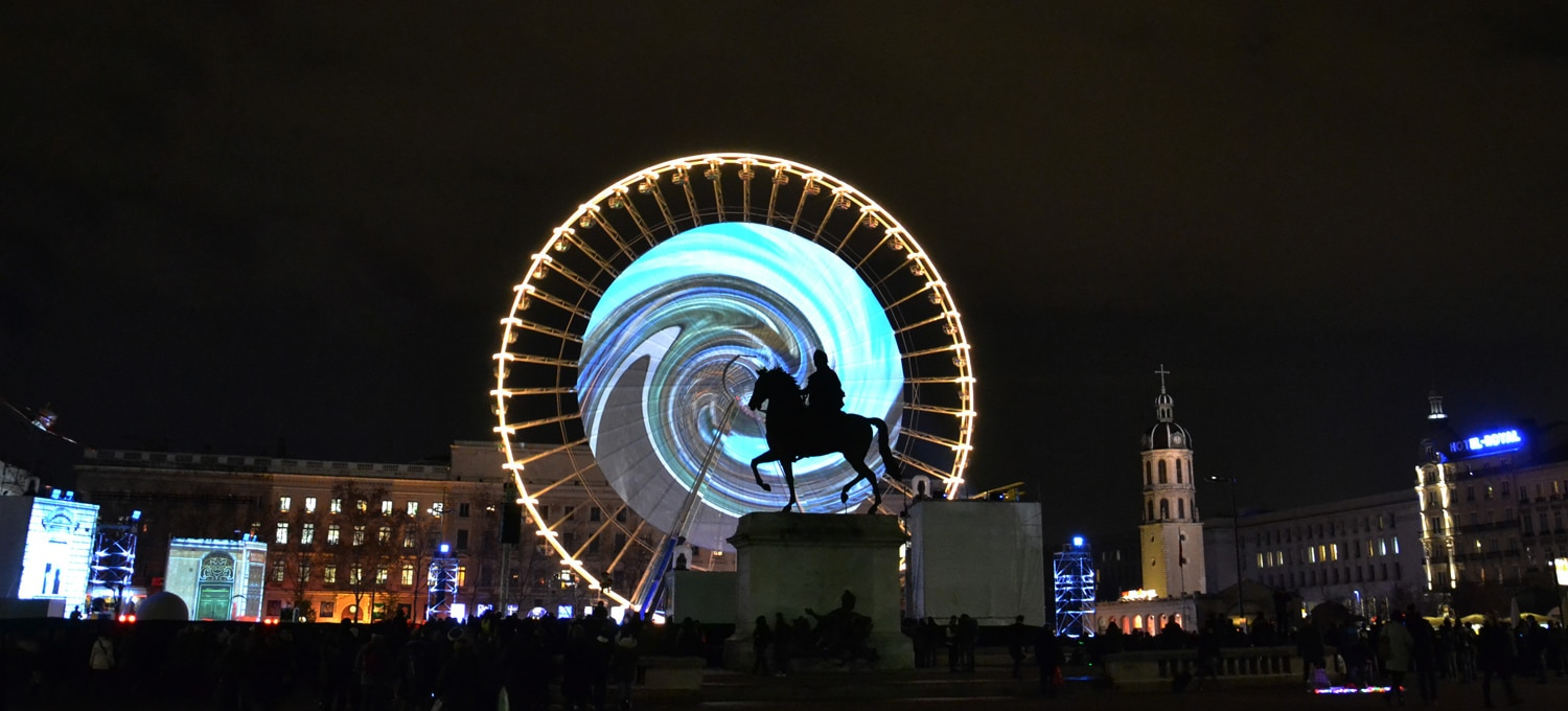 Big Wheel in Place Bellecour in the heart of Lyon France