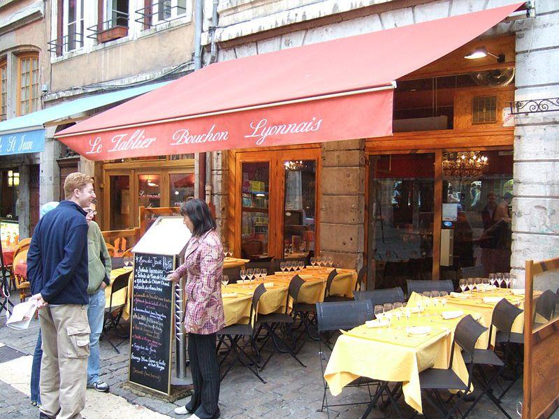 Bouchon lyonnais aka restaurant in Lyon