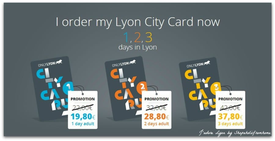 Lyon city card to explore the city