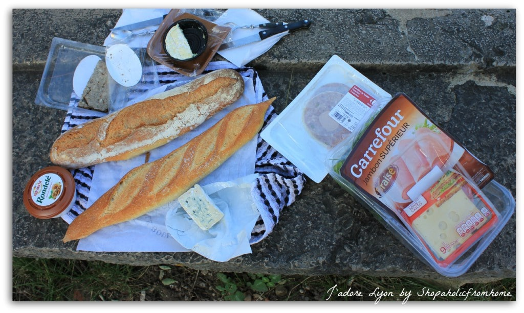 Picnic in Lyon: a sandwich for lunch