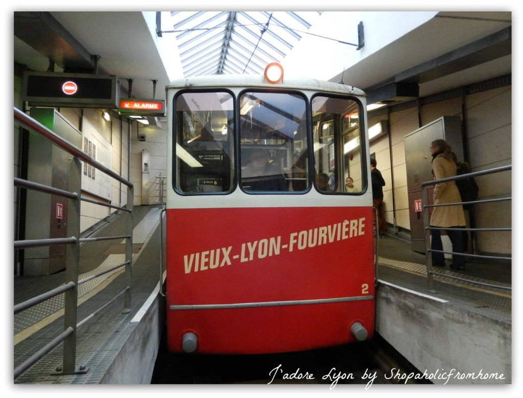 The funicular from Vieux Lyon to Fourvière and St-Just
