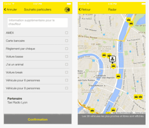 Lyon Taxi service application