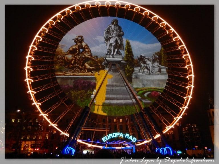 Fete des Lumières Lyon Bellecour Grande roue