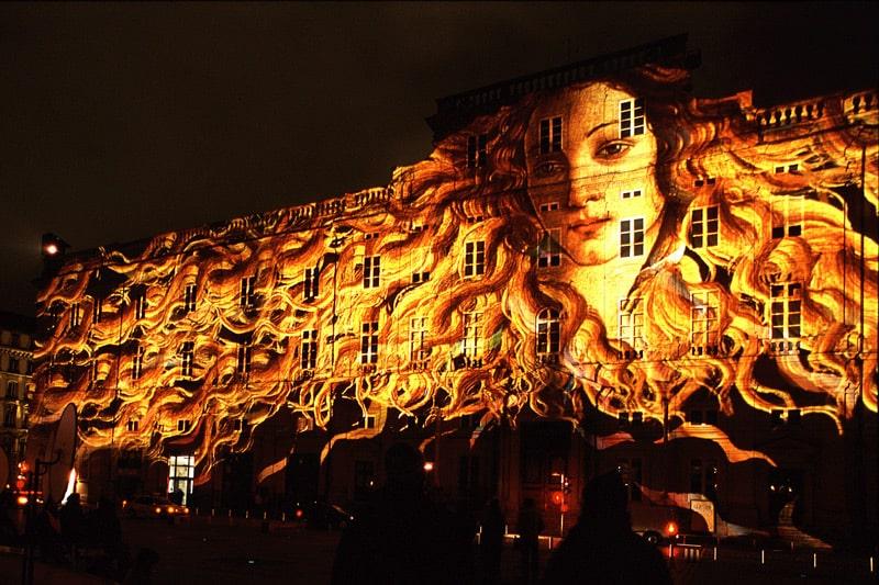 Lyon, Venus on the Palais des Beaux Arts