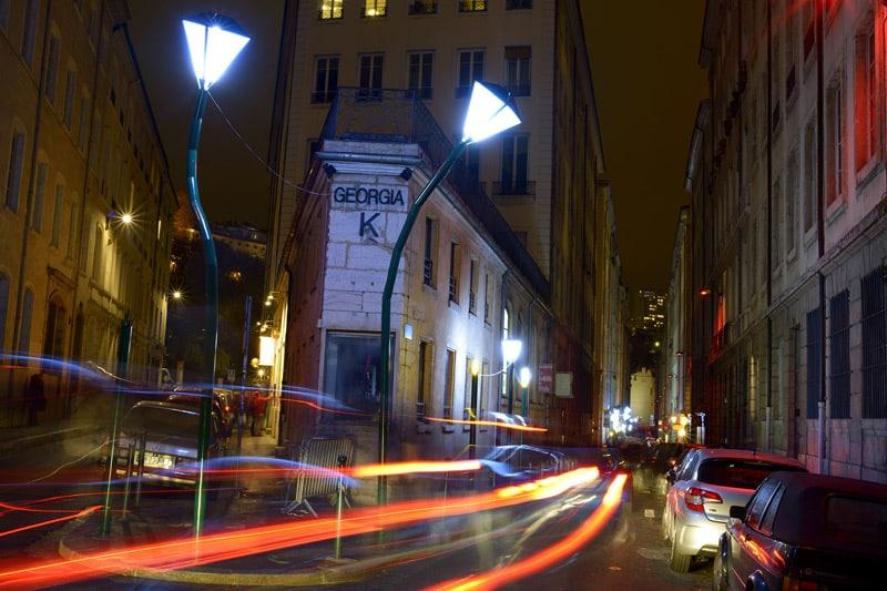 Lyon, rue royale by night