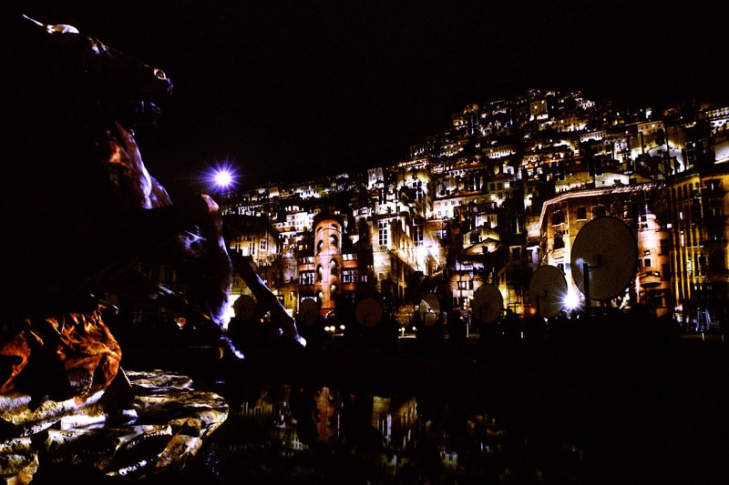 Lyon, Place des Terreaux by night