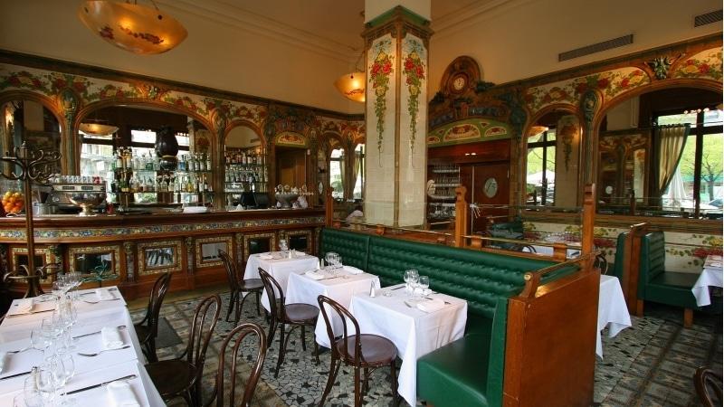 Art Nouveau interior of Brasserie des Brotteaux, Lyon