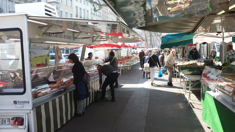 Qaint Antoine market in Lyon