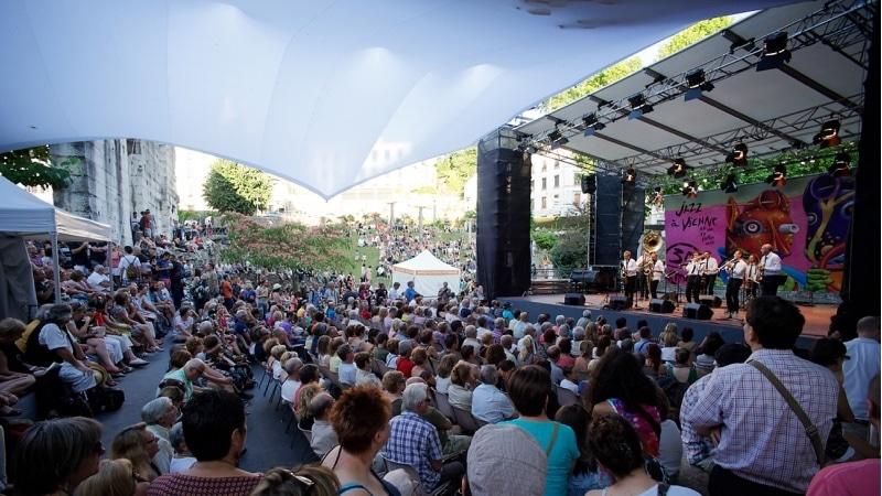Daytime stage of Vienne Jazz festival