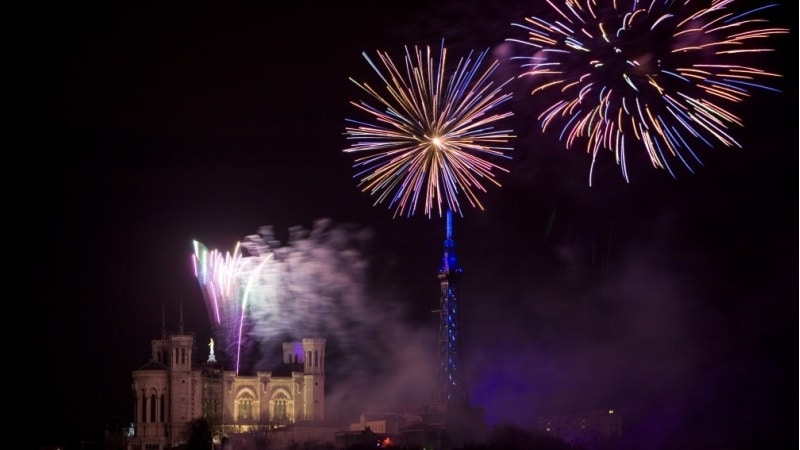 Bastille Day Fireworks in Lyon