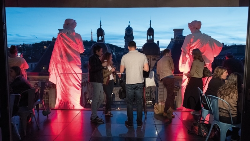 Les Muses the panoramic bar of the Lyon Opera.