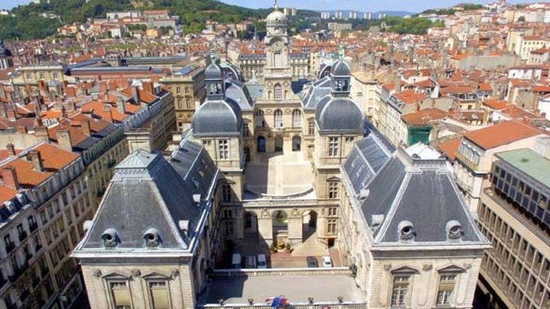 Lyon, France city hall in 2020