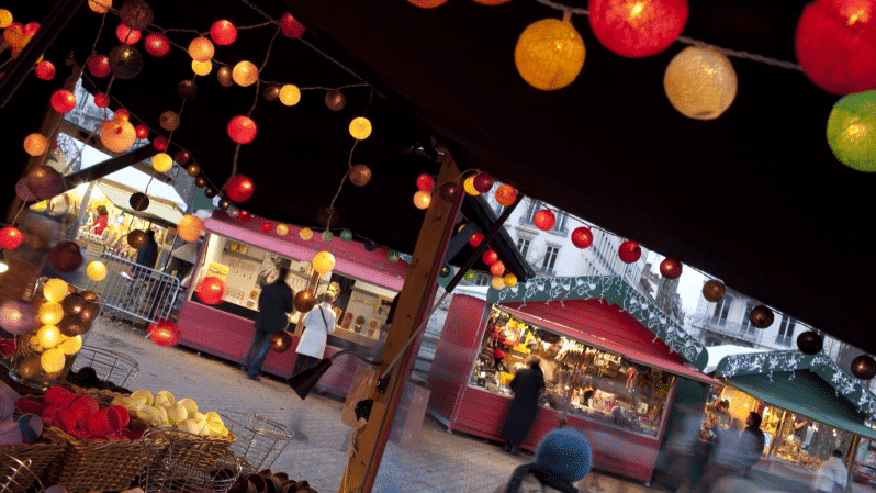 Lyon's Christmas market on place Carnot