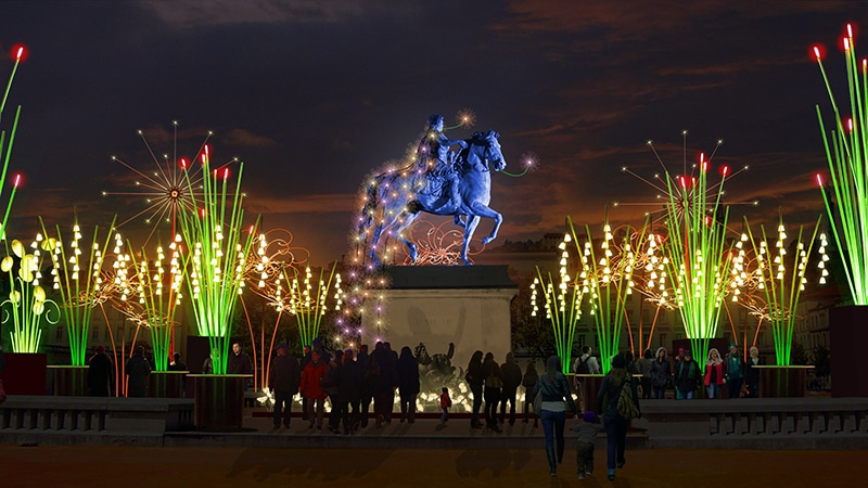 Four walking itineraries for Lyon Festival of Lights 2017 & Best of Lyon Festival of Lights 2017 ? 4 Nights of Lights in Lyon