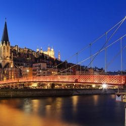 Top Bars in old Lyon town, France