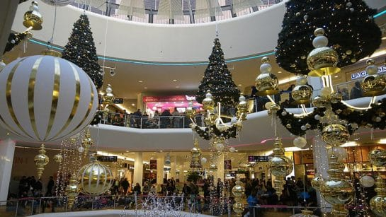 La Part-Dieu shopping mall celebrates christmas