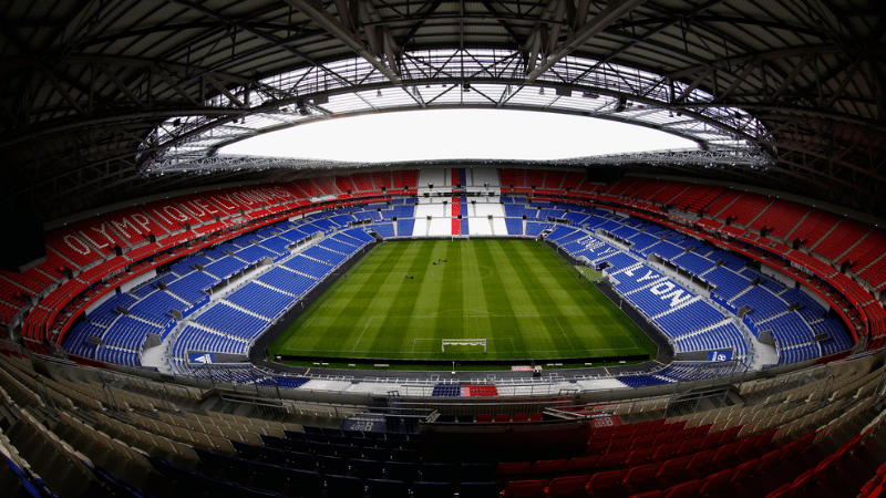 a view inside the groupama stadium in lyon
