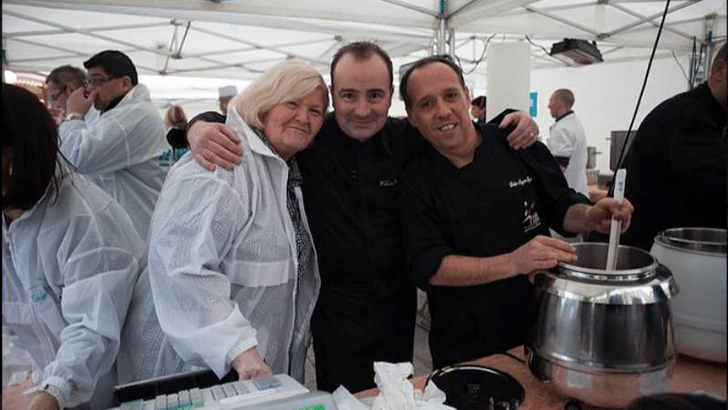 Chef Fabrice Bonnaud at Soupe en Scènes charity festival