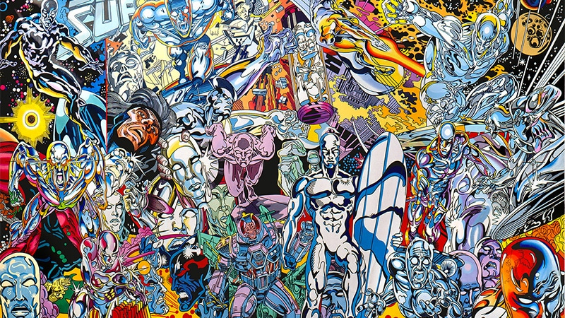 Erró, Silver Surfer Saga, 1999, Collection macLYON, © Adagp, Paris, 2018