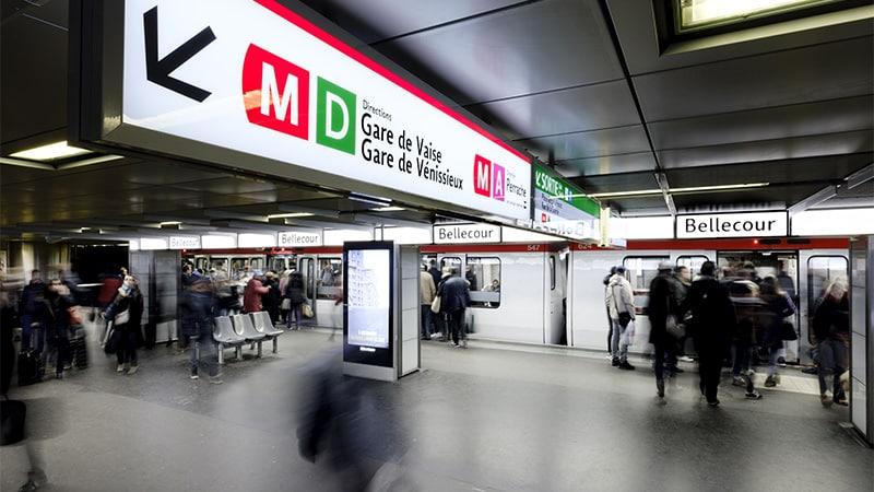 The Bellecour metro stop in Lyon, France. © Nicolas Robin/SYTRAL