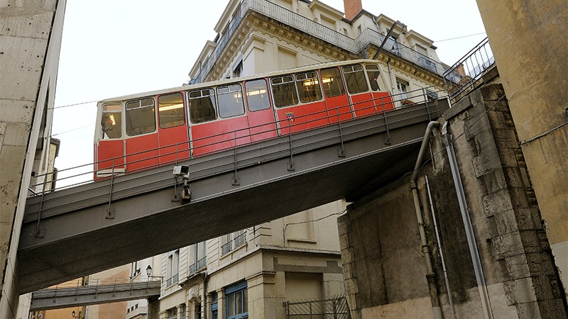 The Fourviere-Vieux Lyon funicular line in Lyon. © Schuller/SYTRAL