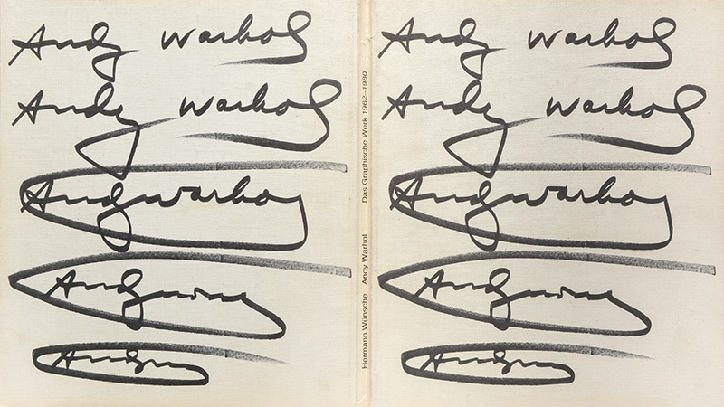 Examples of Andy Warhol's signatures.