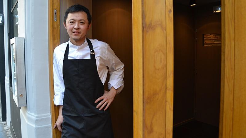 Japanese chef Takao Takano in Lyon