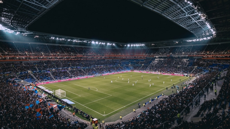 olympique lyonnais playing in groupama stadium in lyon