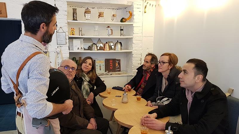 Inside Brume's Café in Annecy