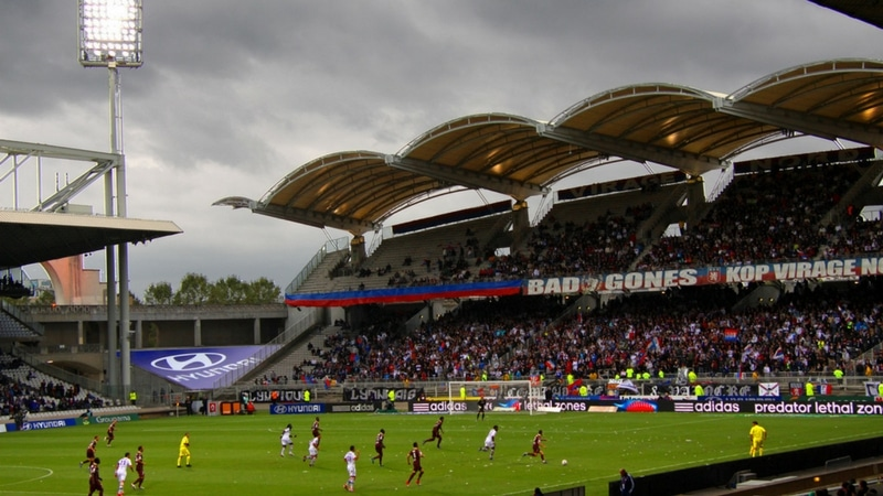 stade de gerland during an olympique lyonnais game