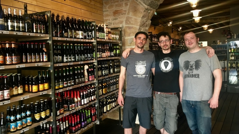trio of owners of la crafterie in lyon