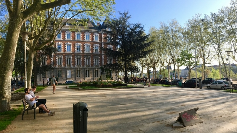 view of square jussieu in lyon