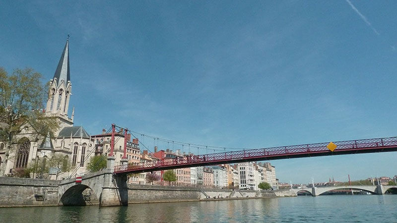 st georges church and passerelle in lyon