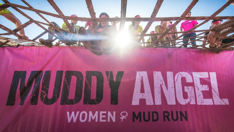 mud obstacles in the muddy angel run