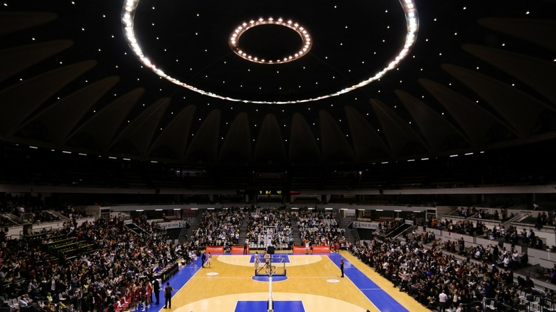 concrete dome of the palais des sports in lyon