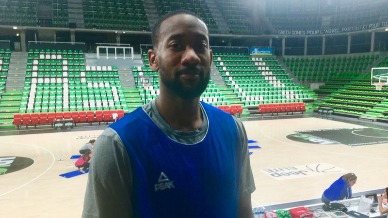 david lighty asvel basketball player in lyon