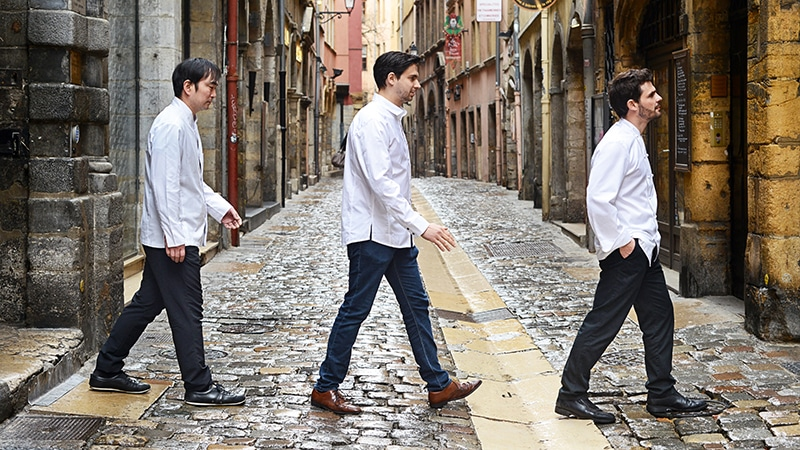 michelin star chefs in the rue du boeuf in lyon