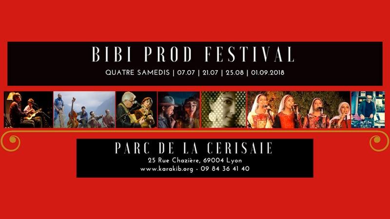 the bibi prod festival in Lyon summer 2018