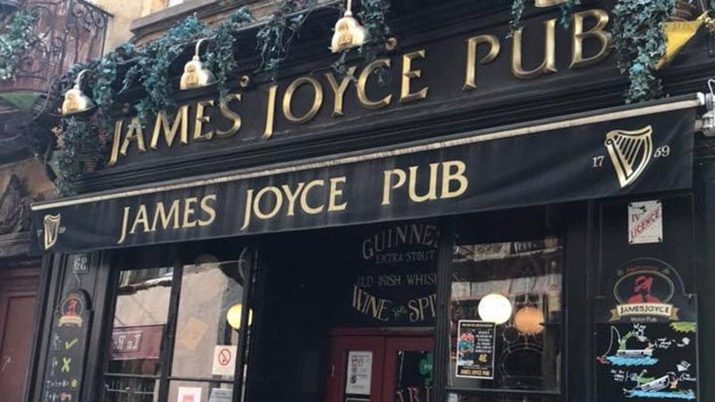 James Joyce Irish pub in Vieux Lyon
