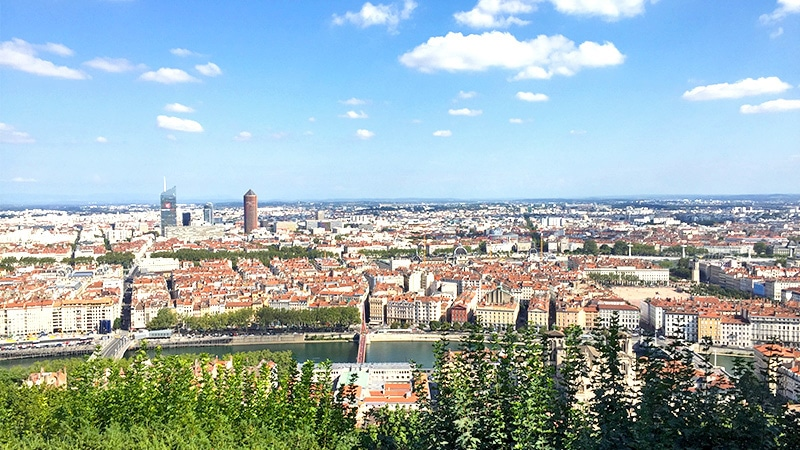 view of lyon from fourviere