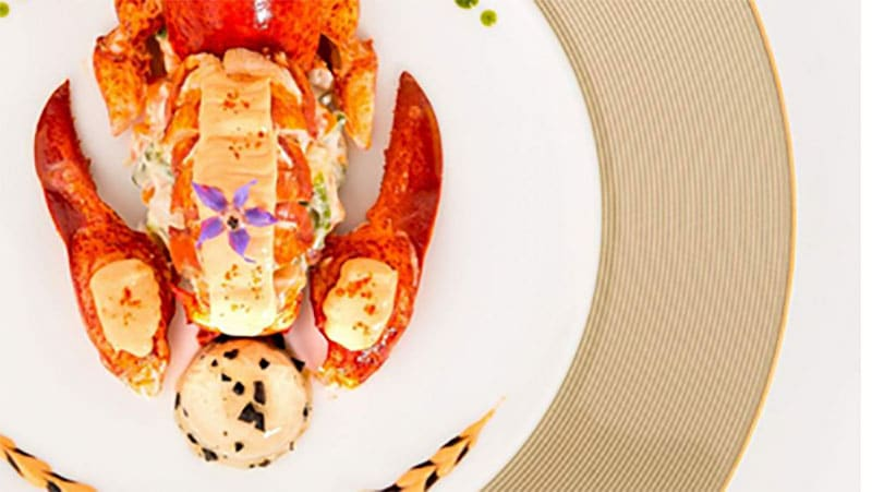 Recipe from Paul Bocuse: Lobster in an iced Pouilly Fuissé court bouillon
