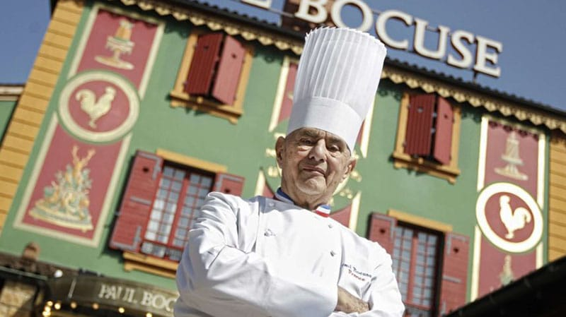 Chef Paul Bocuse in Lyon.
