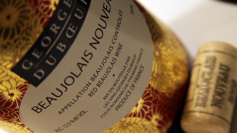 Beaujolais Nouveau bottle