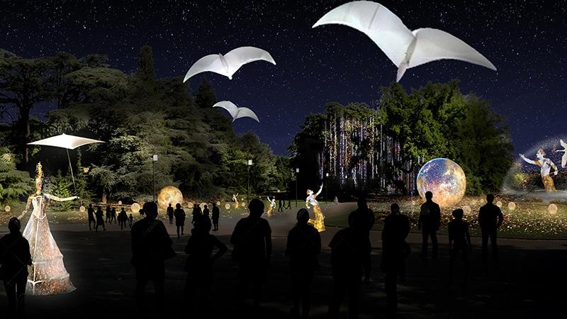 Lyon festival of lights parc Tete d'or