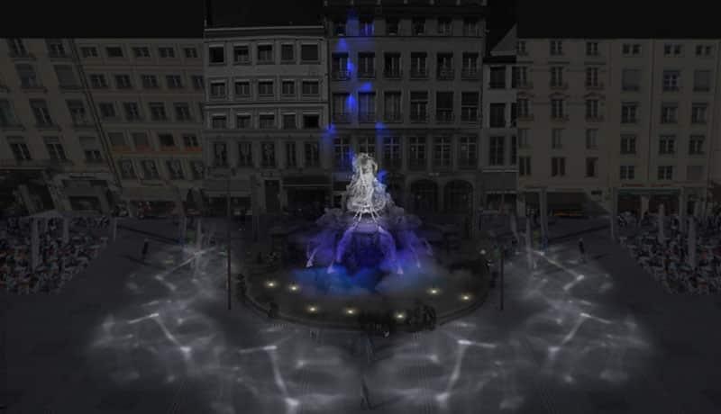 Place des Terreaux - Lyon festival of Lights