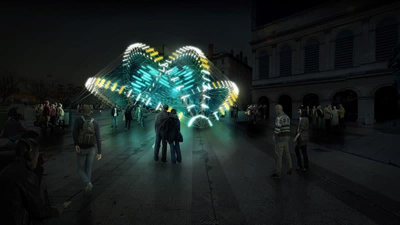 Place Louis Pradel Lyon festival of Lights 2018