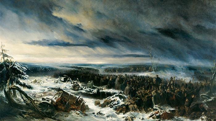 © Nicolas Toussaint Charlet - Épisode de la campagne de Russie – 1836 - Huile sur toile.