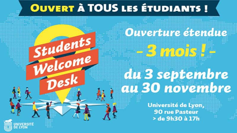 "Lyon ""Students Welcome Desk"" provides students in the Lyon metropolitan area with services that ensure a smooth fit into the city and proper studies"