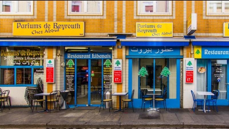 parfums de beyrouth restaurant's front
