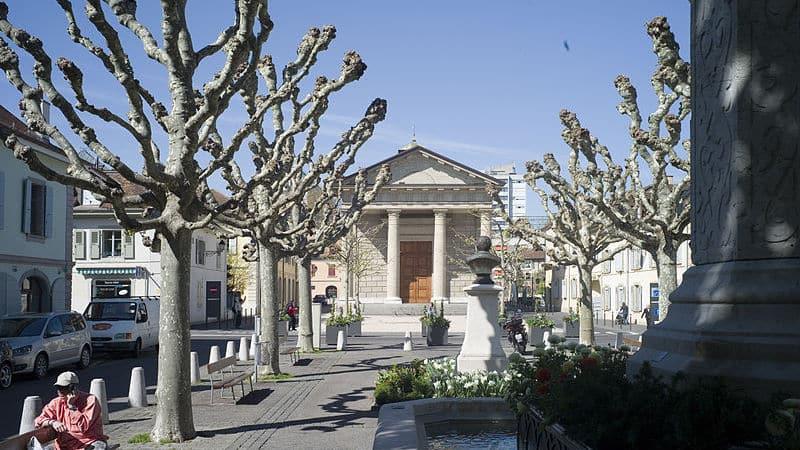 Place du Temple in carouge, Geneva